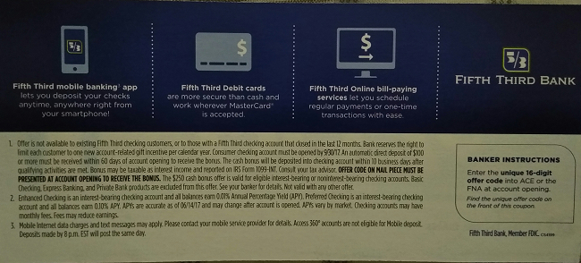 Fifth third bank bonuses 250 500 promotions fifth third bank is offering residents of ohio florida georgia illinois indiana kentucky michigan missouri north carolina pennsylvania tennessee colourmoves Choice Image