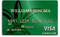 cartão de crédito Williams-Sonoma