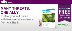 Ally Bank Free Webroot Antivirus Promotion