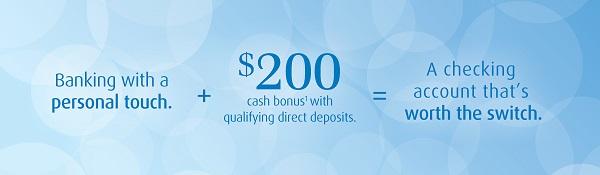 New BMO Harris $200 Checking Promotion