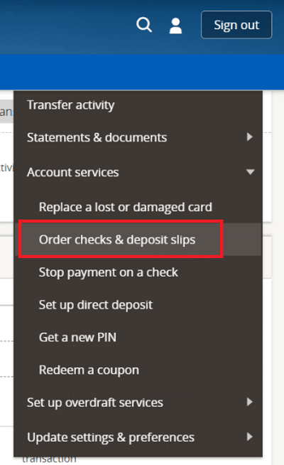 How To Reorder Chase Checks