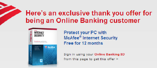 New Bank of America Free McAfee Promotion