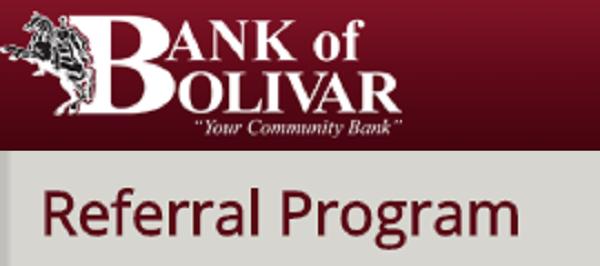 New Bank of Bolivar $25 Referral Promotion