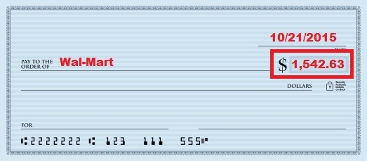 how to write a chase check