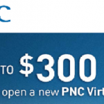 New PNC Bank Virtual Wallet Checking Account $300 Promotion