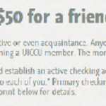 New Univ. of IA Community CU $50 Referral Promotion