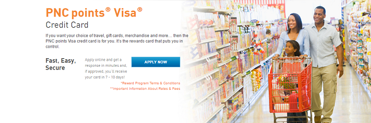 PNC Points Visa Credit Card Review: 4x Points Everywhere - Bank ...