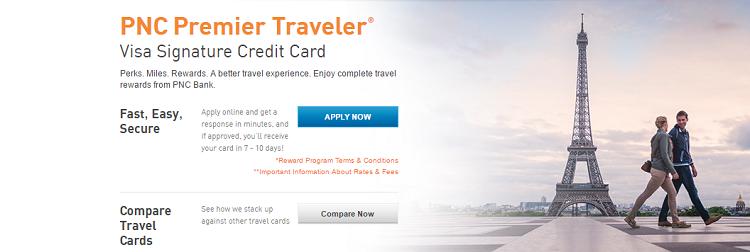 Pnc premier traveler visa signature credit card review 30000 bonus pnc premier traveler reheart Image collections