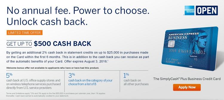 Amex simplycash plus business credit card promotion simply cash plus 500 colourmoves