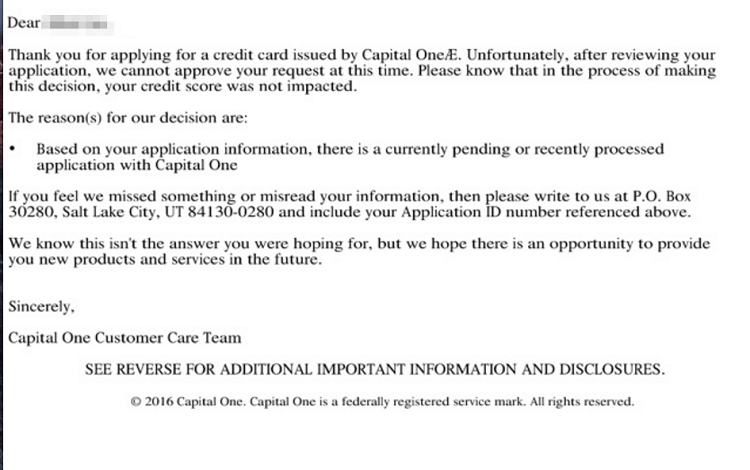 Capital 1 credit card application