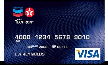 Chevron e Texaco cartão de visita