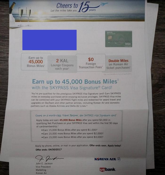 U S Bank Korean Skypass Credit Card Review 45 000 Skypass