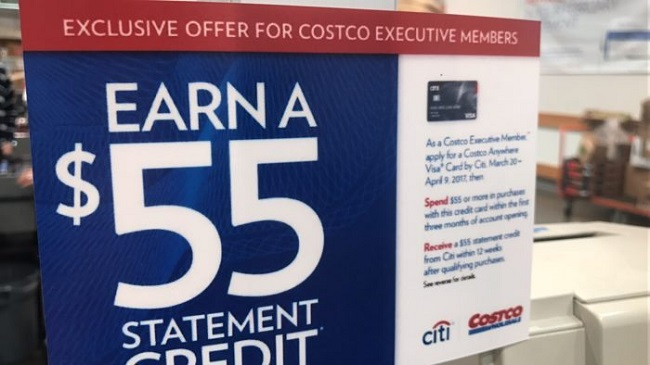 Citi Costco Credit Card Bonus Promotion: $55 Statement Credit