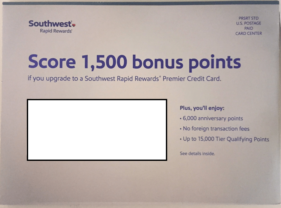 Chase Upgrade Southwest Premier Credit Card Bonus: Earn 1,500 Points ...