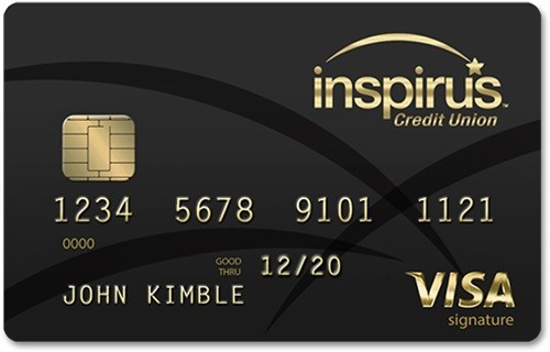 Inspirus Visa Signature Credit Card: Earn 2% Unlimited Cash Back
