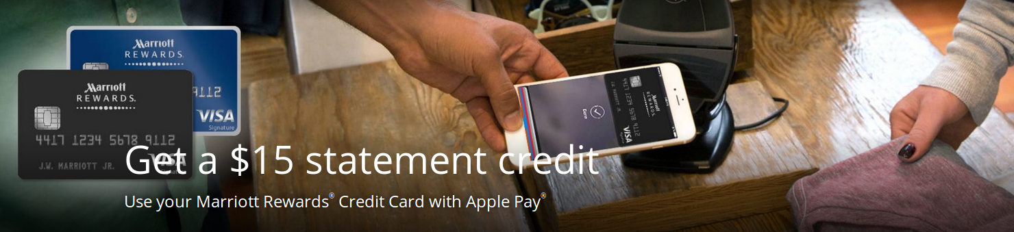 Chase Marriott Card Apple Pay Promotion: Earn $15 Statement Credit