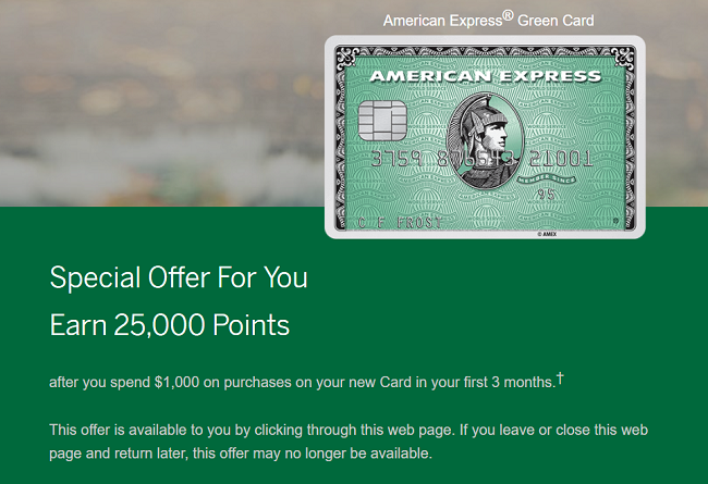 Amex Green Card Travel Rewards