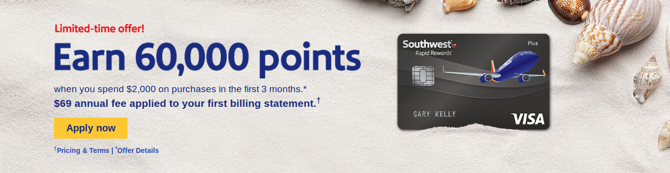 southwest airlines rapid rewards plus card features - Southwest Visa Card