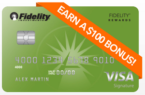 Fidelity Rewards Visa Signature Card Member Bonus 100 Bonus
