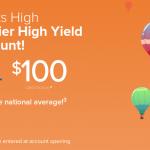 CIT Bank Premier High Yield Savings Bonus: $100 Bonus + 1.30% APY