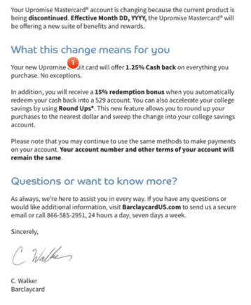 Barclaycard New UPromise Cash Back Credit Card: Rumored To