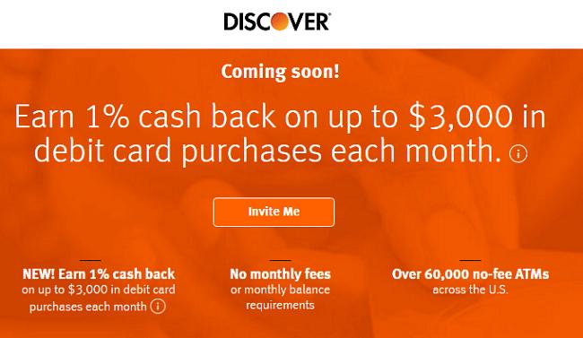 Discover 1% Cashback Checking