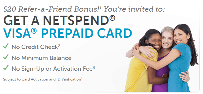 Netspend $20 referral bonus image