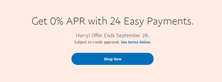 paypal credit special financing offer 0 apr for 24 months. Black Bedroom Furniture Sets. Home Design Ideas