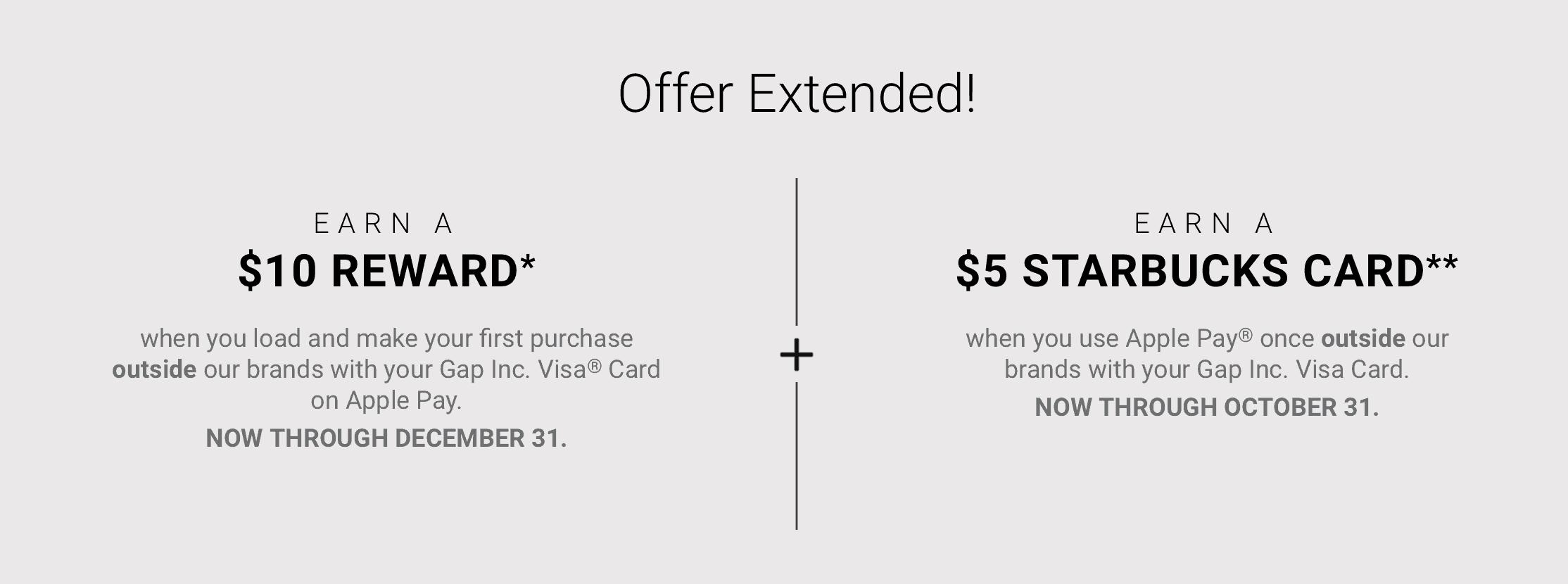 Gap & Banana Visa Card Mobile Wallet Bonus: Get $40 For Using Card