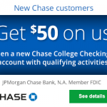 Chase College Checking Account Review: Earn $50 Bonus (Many States)