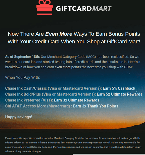 Giftcard Mart Review Earn Up To 5x For Purchases