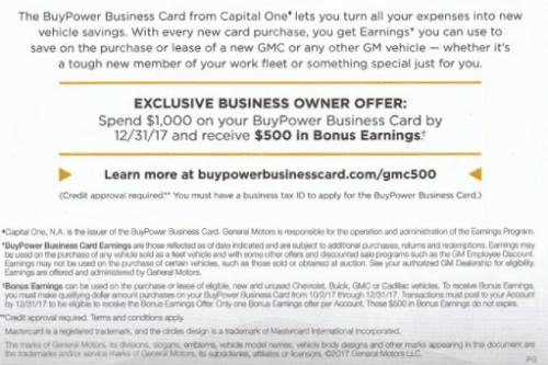 Capital one buypower business card bonus 500 bonus ymmv capital one buypower business card features colourmoves