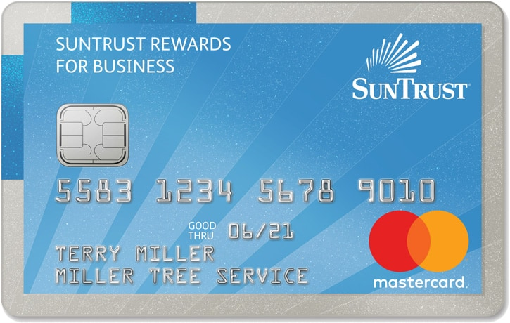 Suntrust small business credit card review 5 cash back for Business credit card no personal credit check
