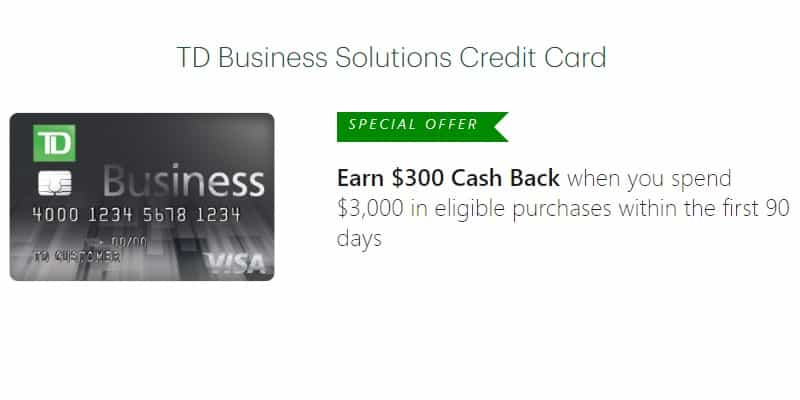 TD Business Solutions Visa Credit Card Review: $200 Cash Back