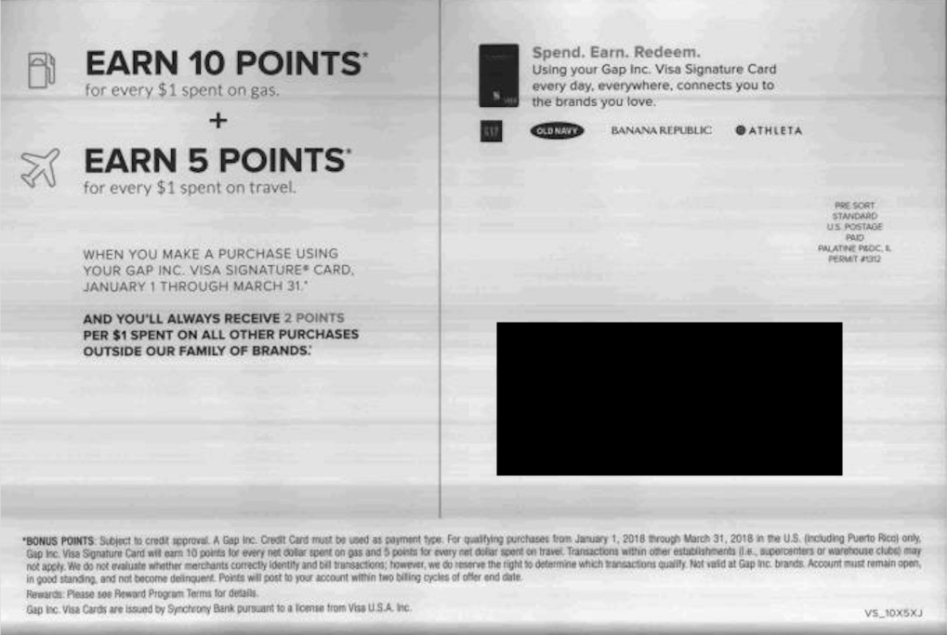 Gap banana republic old navy visa card bonus earn 4x on purchases store credit cards list on for its rewarding targeted promotions alone dont forget to check out our full list of credit card bonuses if youre not reheart Images