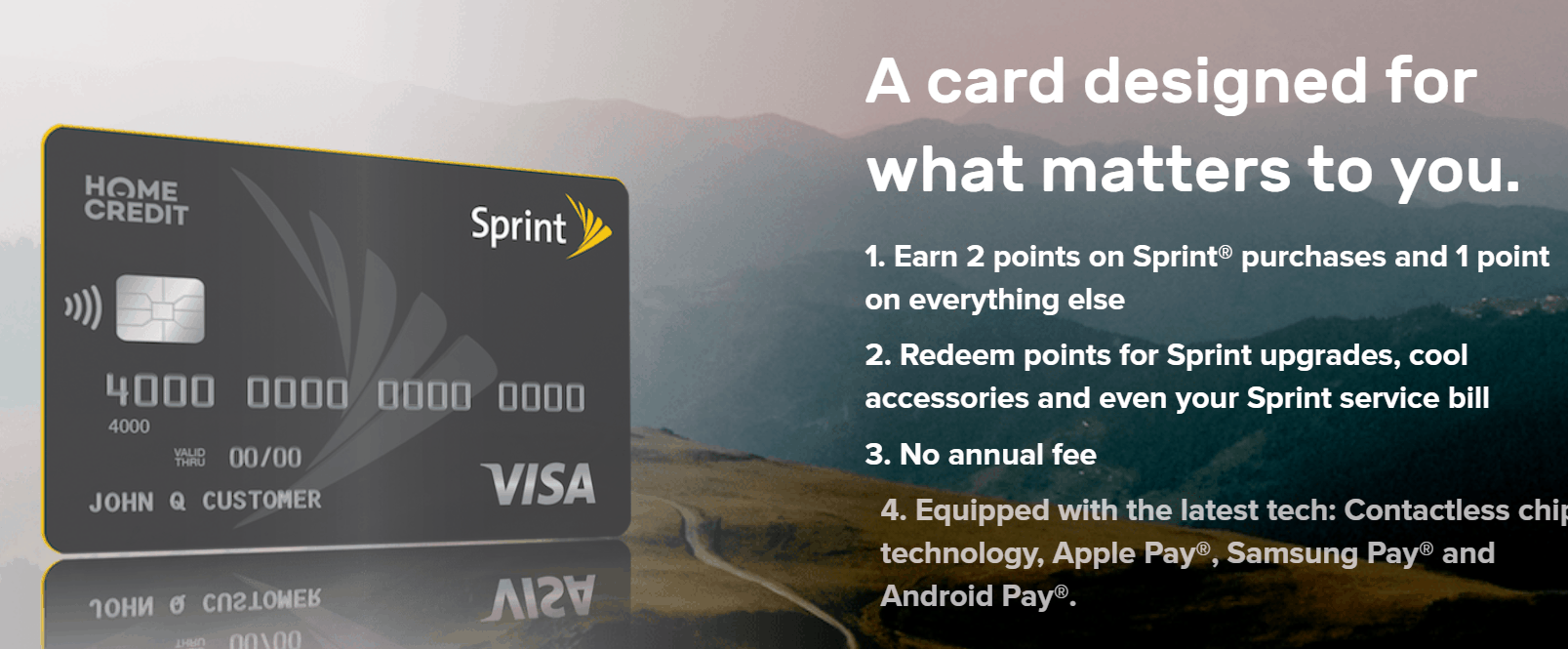 sprint recently partnered with home credit hcus to pump out a sprint visa credit card suitable for being more rewarding than ever to get the latest - Visa Payroll Card