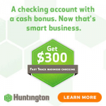 Huntington Bank Fast Track Business Checking Review: $300 Bonus (OH, MI, IN, PA, KY, WV, IL & WI)