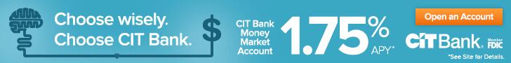 CIT Bank Money Market Account Banner