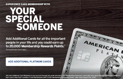 American express business platinum card promotion 100000 bonus points editors note to earn even more points you can add new additional card members to your account through a colourmoves