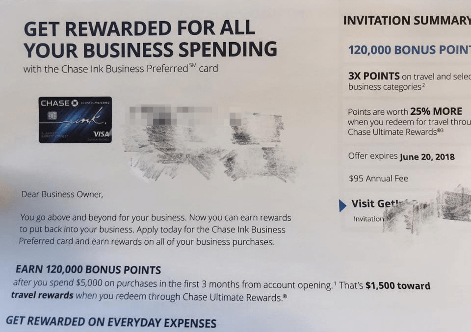 Chase ink preferred business sign up promotion 120000 bonus points if youre looking for more chase credit card options then check out our chase credit card promotions master list for more information colourmoves