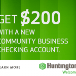 Huntington Bank Community Business Checking Review: $200 Bonus (OH, MI, IN, PA, KY, WV, IL & WI)