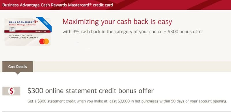 Bank of America Business Advantage Cash Rewards Mastercard Review
