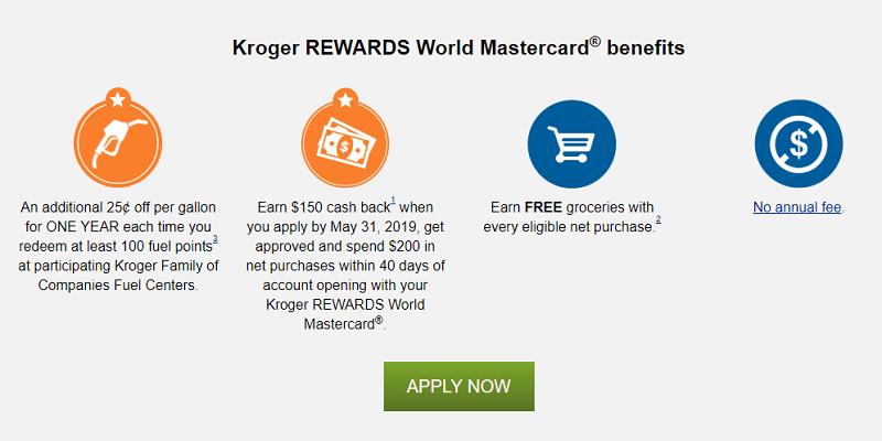 Kroger Rewards Mastercard Credit Card Review: $150 Cash