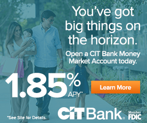 CIT Bank Money Market Account MM MMA