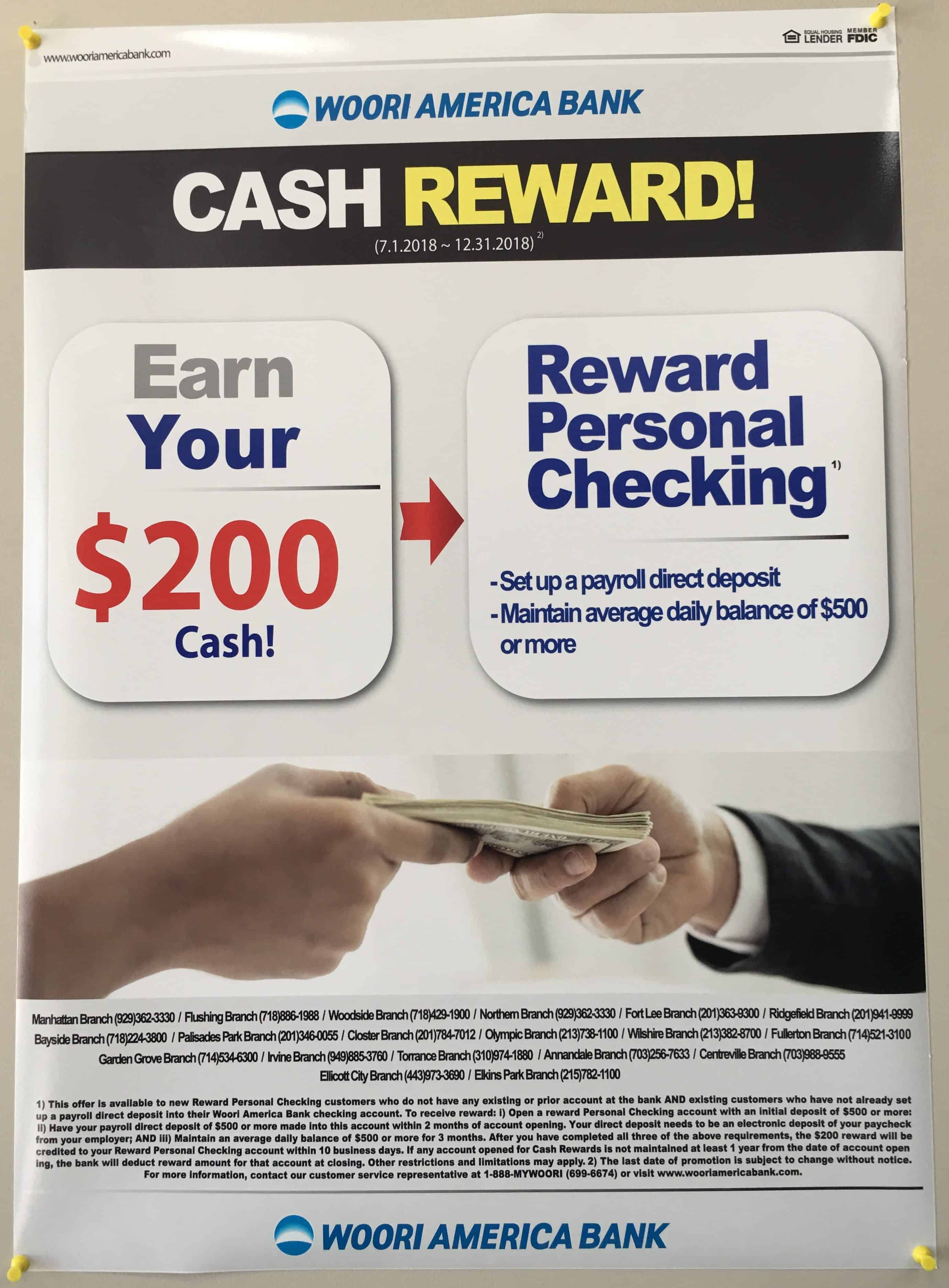 Woori America Bank Checking Bonus 200 Promotion Ny Nj