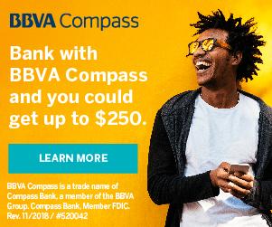 BBVA Compass Checking Savings Review: $250 Bonus (Nationwide)