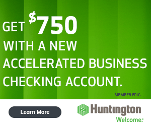 Huntington Accelerated $750 Bonus Offer Promo Code Promotion