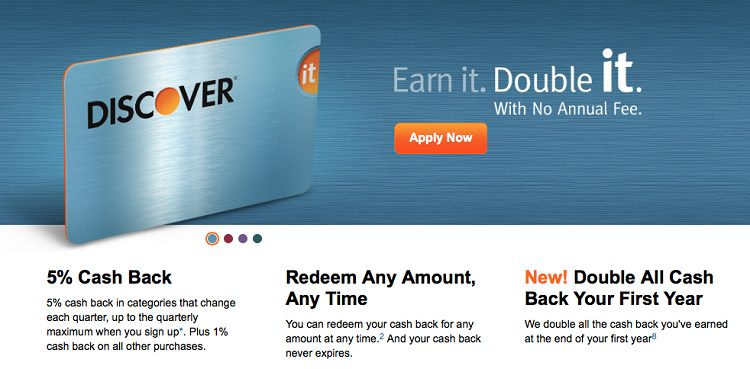 Discover It CashBack Match Card