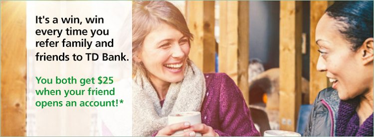TD Bank Referral Promotion