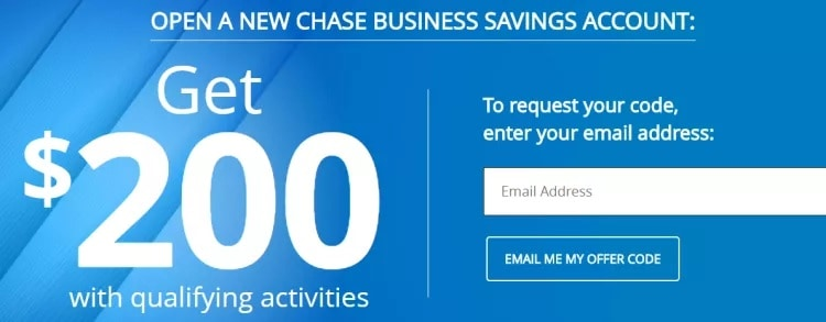 Chase Business Savings account bonus promotion